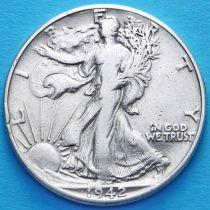 США 50 центов 1942 год. Серебро.