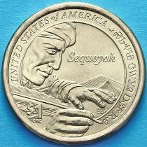 США 1 доллар 2017 год. Сакагавея. Секвойя. Р.