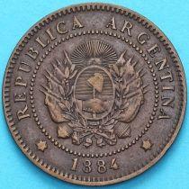 Аргентина 1 сентаво 1884 год