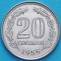 Аргентина 20 сентаво 1958 год.