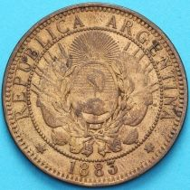 Аргентина 2 сентаво 1883 год.