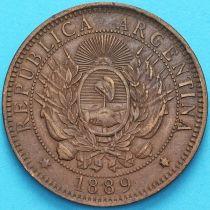 Аргентина 2 сентаво 1889 год.