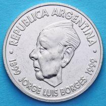 Аргентина 2 песо 1999 год. Хорхе Луис Борхес.