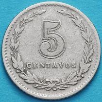 Аргентина 5 сентаво 1920-1929 год.