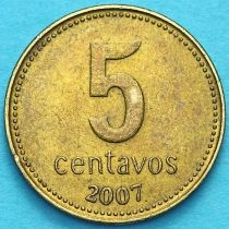 Аргентина 5 сентаво 1992-2009 год.