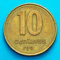 Аргентина 10 сентаво 1993 год.