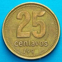 Аргентина 25 сентаво 1993 год. KM# 110a