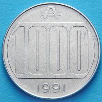 Аргентина 1000 аустралей 1991 год.