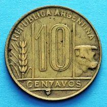 Аргентина 10 сентаво 1947-1949 год.