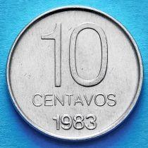 Аргентина 10 сентаво 1983 год.