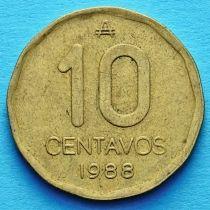 Аргентина 10 сентаво 1986-1988 год.