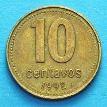 Аргентина 10 сентаво 1992-2007 год.