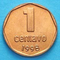 Аргентина 1 сентаво 1998 год.