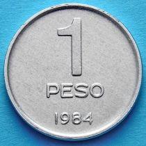 Аргентина 1 песо 1984 год. Национальный конгресс.