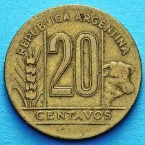 Аргентина 20 сентаво 1942-1949 год.