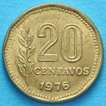 Аргентина 20 сентаво 1976 год.