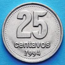 Аргентина 25 сентаво 1993-1996 год.