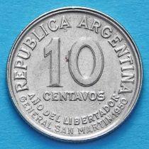 Аргентина 10 сентаво 1950 год. Хосе де Сан-Мартин.