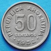 Аргентина 50 сентаво 1952 год.