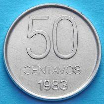 Аргентина 50 сентаво 1983 год.