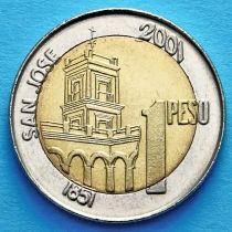 Аргентина 1 песо 2001 год. Хусто Хосе де Уркиза.