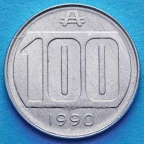 Аргентина 100 аустралей 1990 год.