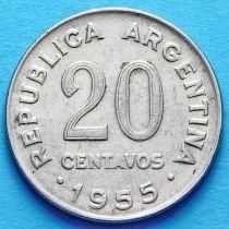 Аргентина 20 сентаво 1951-1956 год.