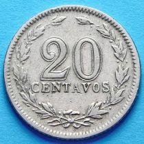 Аргентина 20 сентаво 1920-1938 год.
