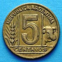 Аргентина 5 сентаво 1943-1950 год.