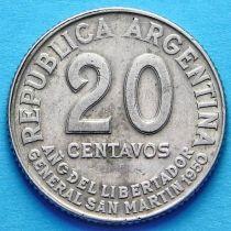 Аргентина 20 сентаво 1950 год.