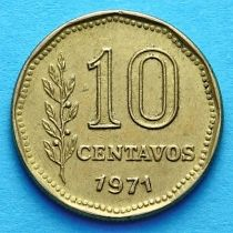 Аргентина 10 сентаво 1970-1976 год.