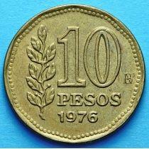Аргентина 10 песо 1976-1978 год.