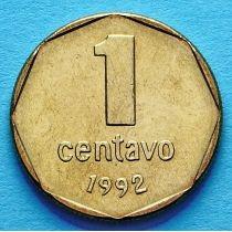 Аргентина 1 сентаво 1992-1993 год. Тип 2.