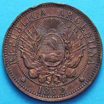 Аргентина 2 сентаво 1892 год.