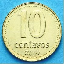 Аргентина 10 сентаво 2010-2011 год.