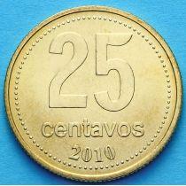 Аргентина 25 сентаво 2010 год. Ратуша Буэнос-Айреса.