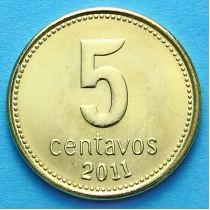 Аргентина 5 сентаво 2011 год.