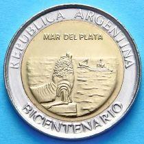 Аргентина 1 песо 2010 год. Мар-дель-плата.