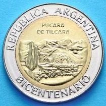 Аргентина 1 песо 2010 год. Крепость Пукара-де-Тилкара.
