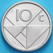 Аруба 10 центов 2018 год. Знак монетного двора мост.