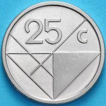 Аруба 25 центов 2019 год. Знак монетного двора мост.