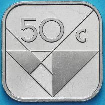 Аруба 50 центов 2018 год. Знак монетного двора мост.