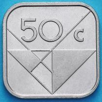 Аруба 50 центов 2016 год. Знак монетного двора паруса и звезда.