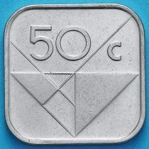 Аруба 50 центов 2014 год. Знак монетного двора паруса.