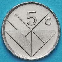 Лот 10 монет. Аруба 5 центов 2001 год.
