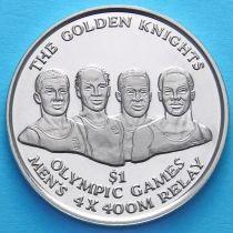 Багамские острова 1 доллар 2016 год. Золотые рыцари.