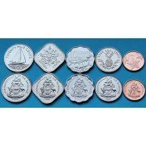 Багамские острова набор 5 монет 2005-2009 год.