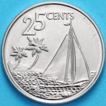 Багамские острова 25 центов 2015 год. Парусник.