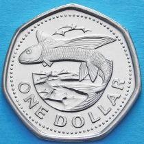 Барбадос 1 доллар 2008 год. Летучая рыба.