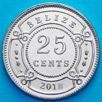 Белиз 25 центов 2015 год.